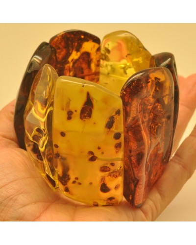 Massive natural shapes Baltic amber bracelet 144 g.